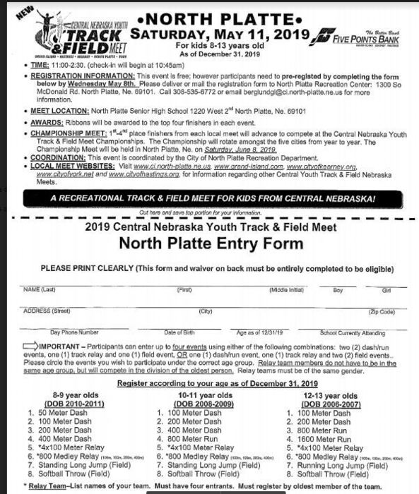 North Platte Youth Track & Field